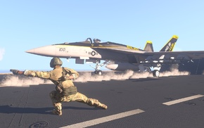 AIM, 9 Sidewinder, aircraft carrier, FA, 18 Hornet, AIM