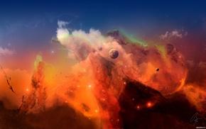 nebula, space, JoeyJazz, fantasy art, digital art, space art