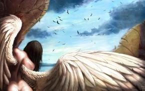 fantasy art, angel, artwork