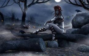 fantasy art, witch, artwork