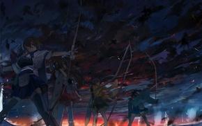 Akagi KanColle, anime girls, Kaga KanColle, Kantai Collection, Souryuu KanColle, Hiryuu KanColle