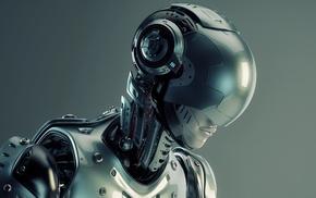 artwork, futuristic, cyborg, girl, fantasy art