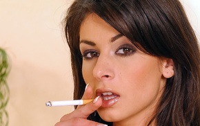 smoking, face, Lucy Lee