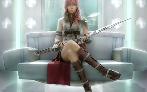 video games, lightning, Lightning xiv