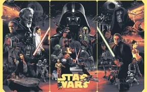 Luke Skywalker, collage, Darth Vader, stormtrooper, Star Wars, R2