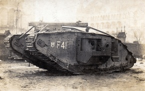 British, tank, military, World War I