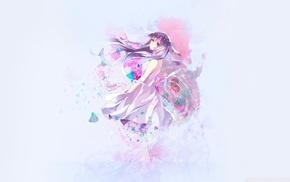 original characters, anime girls, purple