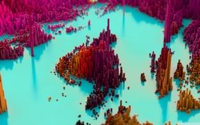 abstract, CGI, pixels