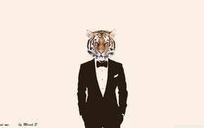 suits, photo manipulation, tiger