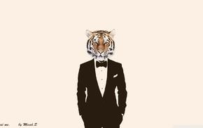 suits, photo manipulation, tiger