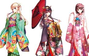anime girls, Katou Megumi, anime, Japanese clothes, kimono, Kasumigaoka Utaha