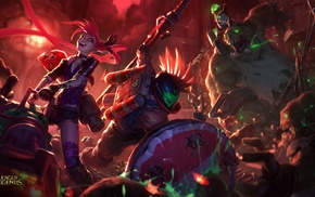 Pantheon League of Legends, League of Legends, zombies, Nunu, Jinx League of Legends