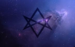 thelema, Unicursal Hexagram, purple, universe, Bring Me the Horizon, space