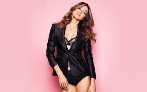 bra, girl, panties, pink background, Adrianne Palicki, actress
