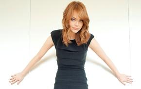 Emma Stone, dress, redhead, actress, girl