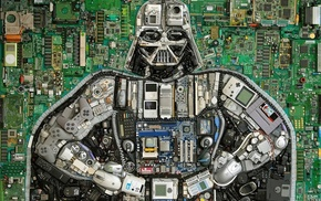 Nintendo, computer mice, hardware, motherboards, Darth Vader, floppy disk