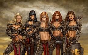 warrior, girl, fantasy art, artwork