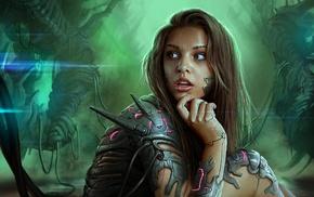 fantasy art, artwork, cyborg