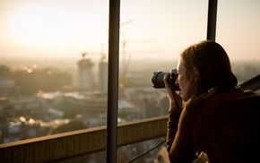 city, camera, girl