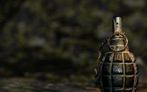 grenades, military, depth of field