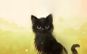 cat, Apofiss, painting, black cats