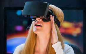 girl, virtual reality