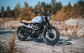 motorcycle, triumph, vehicle, Bobber
