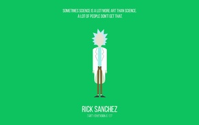 cartoon, Rick and Morty, minimalism