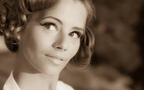 girl, Ariel Piper Fawn, sepia