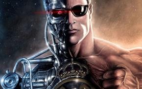 Terminator, movies, cyborg, artwork