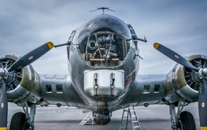aircraft, vehicle, Boeing B, 17 Flying Fortress, military