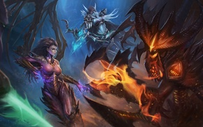 Diablo, Sarah Kerrigan, Sylvanas Windrunner, Blizzard Entertainment, zeratul, heroes of the storm