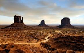 Monument Valley, nature, desert, dirt
