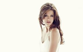 girl, long hair, actress, blonde, simple background, Melissa Benoist