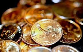 gold, money