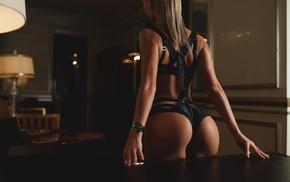 model, long hair, curvy girl, Alena Lukyanova, blonde, interiors