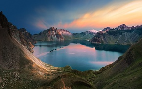 nature, snowy peak, water, blue, landscape, China