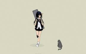 short skirt, anime girls, Ryou Akizuki, short hair, manga, Matoi Ryuuko