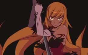 Monogatari Series, blonde, long hair, Oshino Shinobu, anime, anime girls