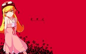 anime girls, anime, Oshino Shinobu, long hair, Monogatari Series, blonde