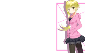 anime, Monogatari Series, anime girls, blonde, Oshino Shinobu, long hair