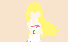 anime girls, Monogatari Series, Oshino Shinobu, vector art, long hair, blonde