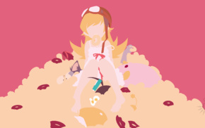 vector art, Oshino Shinobu, Monogatari Series, anime, anime girls, long hair