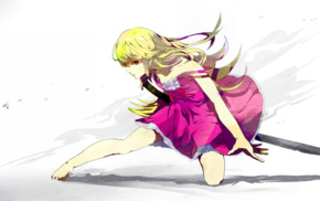 anime girls, anime, long hair, Monogatari Series, Oshino Shinobu, blonde