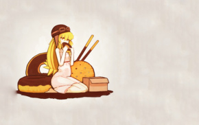 Oshino Shinobu, Monogatari Series, blonde, anime, long hair, anime girls