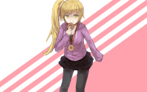 long hair, anime girls, Monogatari Series, Oshino Shinobu, blonde, anime