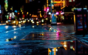 New York City, night, urban, colorful, Times Square