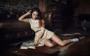 legs, dress, girl, Georgiy Chernyadyev, brunette