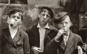 guys, vintage, monochrome, history, sepia, smoking