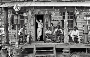history, house, monochrome, stores, vintage